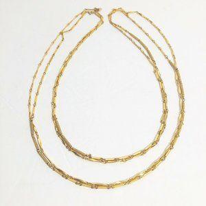 Vintage Monet 80's Gold Tone Link Necklaces 2